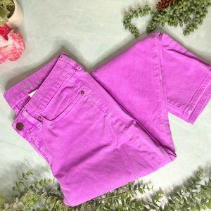 J. Crew Toothpick Jeans in Pink-Purple Skinny